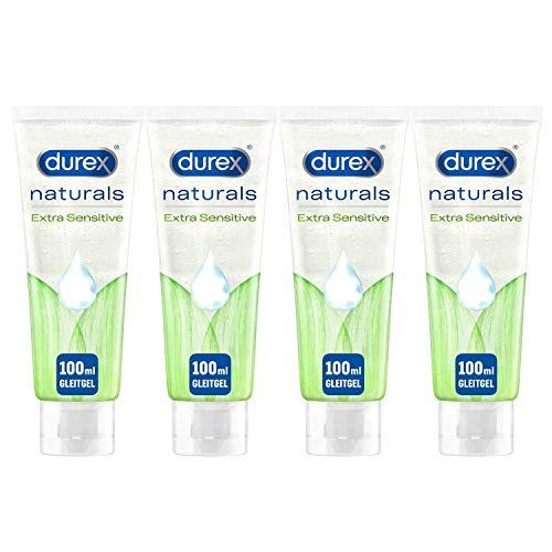 Gleitgel auf Wasserbasis aus 100% natürlichen Inhaltsstoffen mit Intim-Balance-Formel Durex Naturals 4x 100ml in der Tube