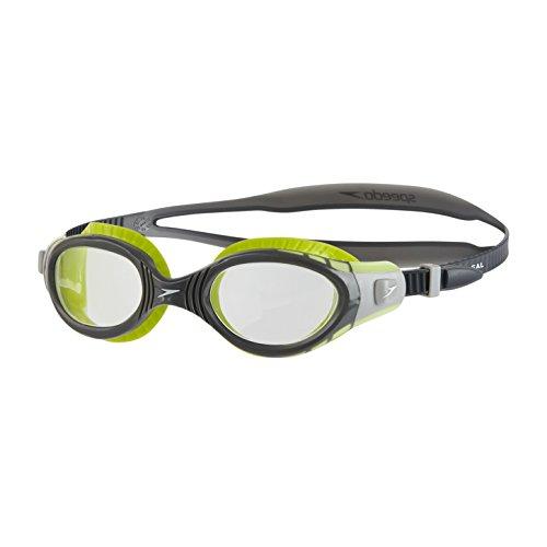 Speedo Unisex Adult Futura Biofuse Flexiseal Goggles, Lime/USA...