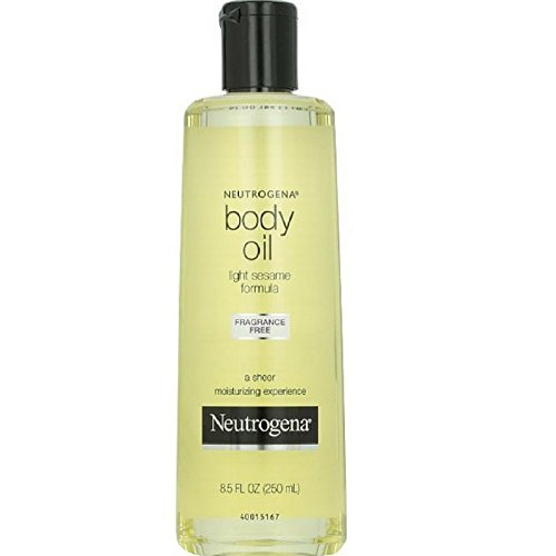 Neutrogena Fragrance-Free Lightweight Body Oil for Dry Skin, Sheer Moisturizer in Light Sesame...
