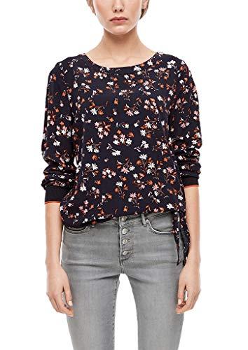 s.Oliver Damen 05.001.11.2884 Bluse, Navy floral AOP, (Herstellergröße: 40)