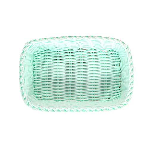pzcvo Cesta plastico almacenaje Cesta de almacenaje Caja pequeña para Almacenamiento Pequeñas cestas de Mimbre para Almacenamiento Green