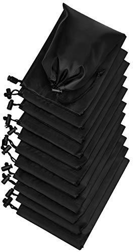 Bolsa de cordón con palanca – Cincha de nailon y bolsa Ditty (5 x 7, negro)