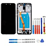 swark Pantalla LCD compatible con Huawei Mate 20 lite SNE-LX1 SNE-LX2 SNE-LX3 INE-LX2 Negro Pantalla táctil digitalizador, cristal de montaje + marco + herramientas