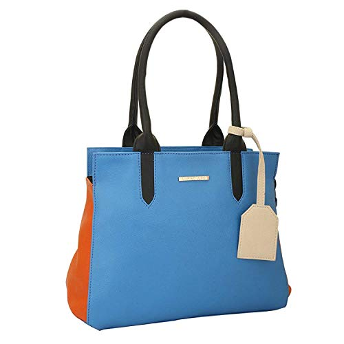 Lapis O Lupo Azure Damen Handtasche Sky Blue Multi Pocket Designer Satchel