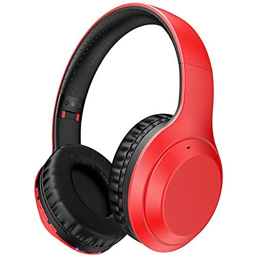 HechoVinen Auriculares plegables, auriculares inalámbricos plegables portátiles con micrófono Shock Bass para TV, PC, clase en línea oficina