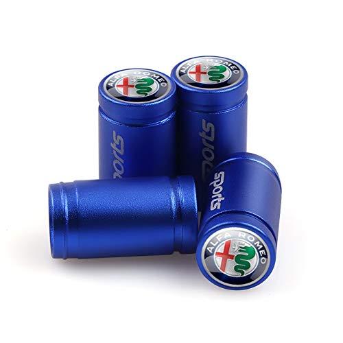 4pcs Sports Car Styling neumáticos Polvo del Coche del Casquillo de válvula del neumático de la Rueda del Tallo Tapas de Las válvulas de Aire Cubierta for Alfa Romeo Giulietta araña Giulia Etc