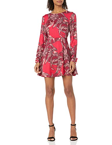 MINKPINK Women's Femme Fatal Floral Print Fit and Flare Dress, Multi, X-Small