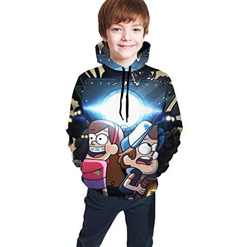 maichengxuan Gra-Vity - Sudadera con capucha unisex para niños y niñas, con bolsillo para uso diario de 7 a 8 años