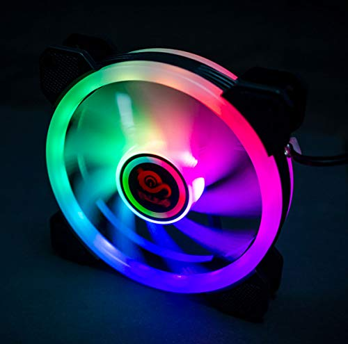 TALIUS Iris Spectrum RGB - Ventilador 12 cm (disponible en dos colores) (Black)