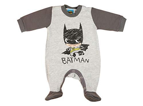 Batman Baby Strampler Pyjama Schlafanzug in Grösse 56 62 68 74 Baumwolle dick gefüttert Jungen Langarm mit Füsschen ideales Geschenk für...