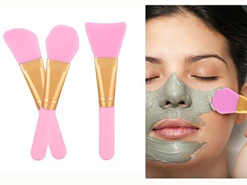 ARTIFUN 3 PCS Silicone Face Mask Brush,Mask Beauty Tool Soft Silicone Facial Mud Mask Mixing Brush Cosmetic Silicone Makeup Applicator for Applying Facial Mask, Eye Mask,Peel, Serum or DIY Needs