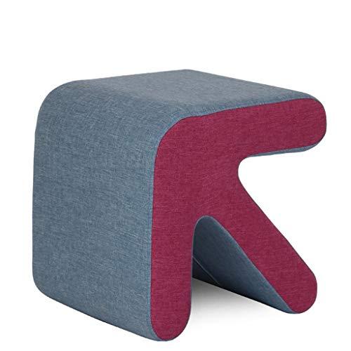 husgeråd Pall massivt trä skor bänk soffa prov skor avföring kreativa små läder säng pall säng kort pall Mode Test skor avföring Badpall (Color : C)