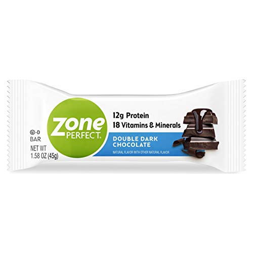 ZonePerfect Protein Bars, Double Dark Chocolate, High Protein, With Vitamins & Minerals (20 Count)