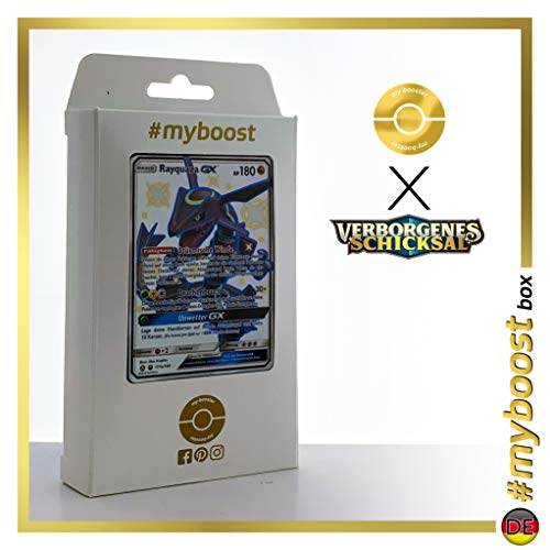 Rayquaza-GX 177A Shillernd - #myboost X Sonne & Mond 11.5 Verborgenes Schicksal - Box mit 10 Deutsche Pokémon-Karten