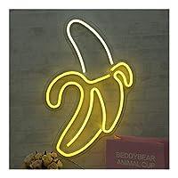 ファッション装飾 バーやベッドルームに適しネオンサイン、スタイリッシュなネオンライト、ユニークな形状ネオンライト 家族でのパーティー、誕生日パーティー、雰囲気 (Color : Banana)
