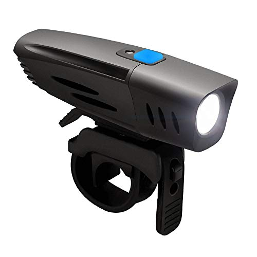 DONPEREGRINO 1000 Lúmenes Luz Bicicleta Delantera con Sensor, Faro Bici Impermeable y Recargable USB para Ciclismo