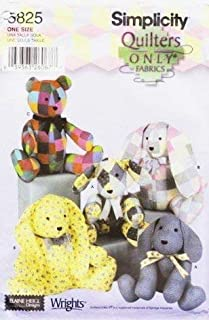 SIMPLICITY 5825 ~ QUILT TEDDY BEAR & BUNNY PATTERN