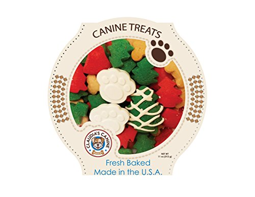 Miles Kimball Claudia's Canine Cuisine - Santa Paws Classic Gourmet Dog Cookies, Assorted, one Size fits All