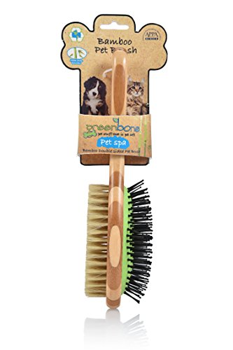 Greenbone All Natural Bamboo Pet Grooming Brushes...