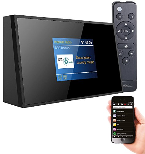 VR-Radio WLAN Radio Tuner: Digitaler WLAN-HiFi-Tuner mit Internetradio, DAB+, UKW, Fernbedienung (WLAN Radio mit Fernbedienung)
