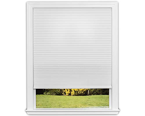 Redi Shade Easy Lift Trim-At-Home Cordless Cellular Light Filtering Fabric Shade (Fits Windows 19'-30'), 30 inch x 64 inch, White