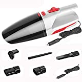 Portable Car Vacuum Cleaner 5 MeterLine Wet and Dry Dual Use Vacuum Cleaner for Auto Clean 120W Handheld Car Maintenance,White