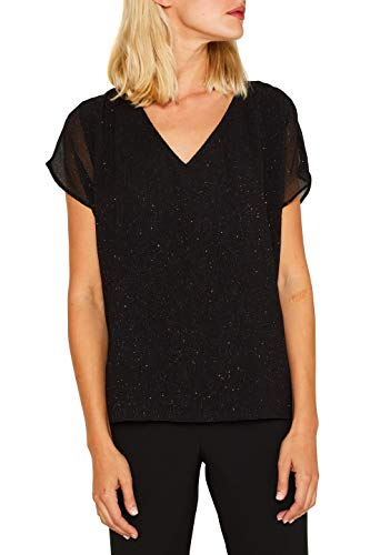 ESPRIT Collection Damen 119EO1F010 Bluse, Schwarz (Black 001), (Herstellergröße: 34)