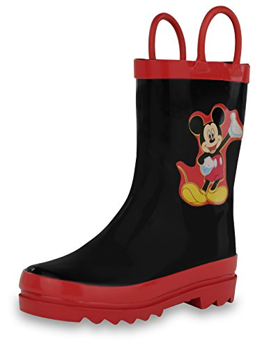 Disney Mickey Mouse Black Rain Boots (Toddler/Little Kid) (12 M US Toddler)