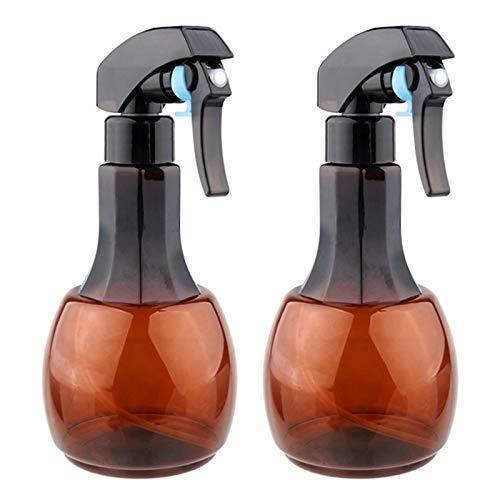 TOOGOO Brun 2 Pcs 400 Ml Rechargeable Brume Fine Coiffure Vaporisateur Atomiseur Barber Vide Eau Pro Salon Outil de Coiffure