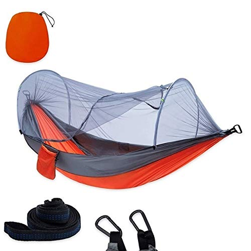 GlISR 1-2 Portable Personne Camping en Plein air hamac avec moustiquaire Balançoire Lits Lit Voyage léger for la randonnée Camp (Color : Nylon Spinning)