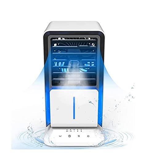 Air Cooler Portable Portable Air Cooler, Personal Air Cooler with 3 Speeds Personal Air Conditioner Timing function Six in one Rapid Cooling Noiseless Evaporative Air Fan, for Home, Office, Room