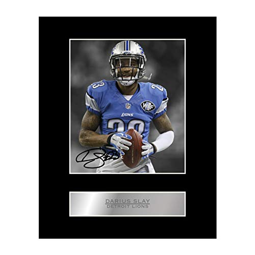 Darius Slay Signed Mounted Photo Display Detroit Lions #05 NFL Printed Autograph Gift Picture Print