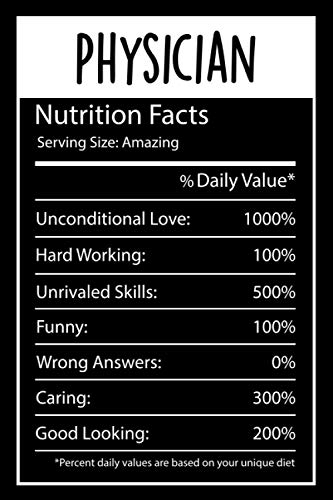 Physician Nutrition Facts Scale: Funny Nutrition Facts birthday, Christmas,...