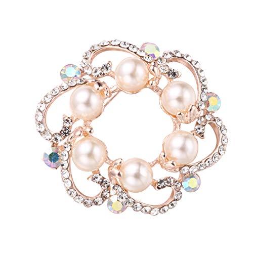 PRETYZOOM Broches de Cristal Accesorios Creativos de Tela para El Día de La Madre Broche Alfileres de Solapa Decoraciones para El Regalo del Día de La Madre