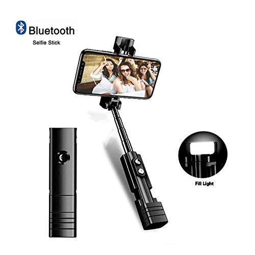 Selfie Stick, Uitschuifbare Bluetooth Telefoon Selfie Stick Met Vul Licht Voor IPhone X/8/8P/7/7P/6s/6, Sumsung Galaxy S9/S8/S7/Note 9/8, Huawei En Meer