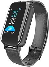 Bond T89 TWS Smart Dual Headphone Bracelet Heart Rate Monitor Smart Watch Men Gift(Black)