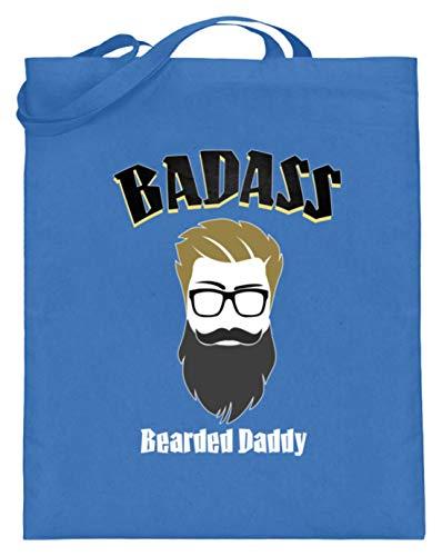 Badass, Bearded Daddy - Vatertag Papa Vater Motiv - Schlichtes Und Witziges Design - Jutebeutel (mit langen Henkeln)