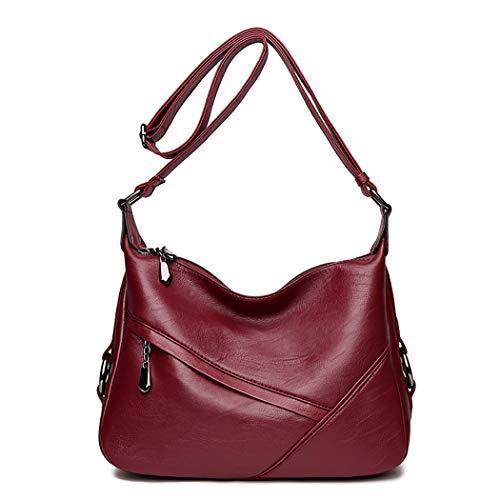 Fanspack PU Leather Hobo Bags for Women Simple Casual Crossbody Bags Ladies Shoulder Bag