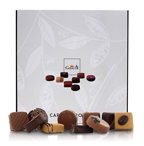 Scatola di cioccolatini Artigianali Misti Carrés & Rondò, 81 pz, 850 Grammi