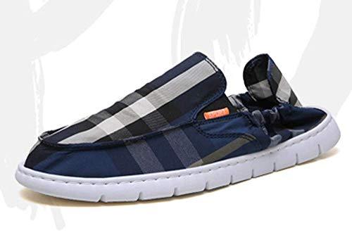 YQ WHJB Zapatos de Tela de Verano Zapatos Juveniles para Hombres Transpirable Ligero Fondo Blando Cómodo Rojo Neto Zapatos para Hombres