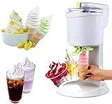 Fabricante de helados hogar DIY cocina helado cono automático mini fruta suave Servir máquina de helado simple una operación de empuje