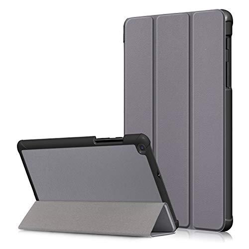 USTIYA Funda para Samsung Tab A 8.0 2019 T290 T295 T297 Case Cuero Protectora PC+PU Gris