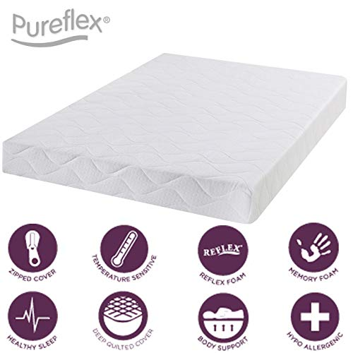 Jumpi Infusion full memory foam quilted panel mattress - 4ft Small Double - 6 inches