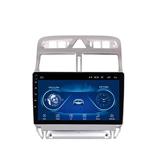 FDSAD Navegación GPS para automóvil para Peugeot (307) 2002-2013 Android 9.0 Navegación GPS estéreo para automóvil 9 Pulgadas HD 1080p Reproductor de DVD para