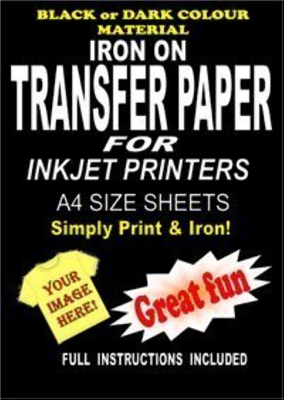 Transferpapier, Zum Aufbügeln auf T-Shirts &Stoff Transferpapier für für für Dunkle Textilien A4 Sheets B00AU0MHF6    Qualität  d09a3b