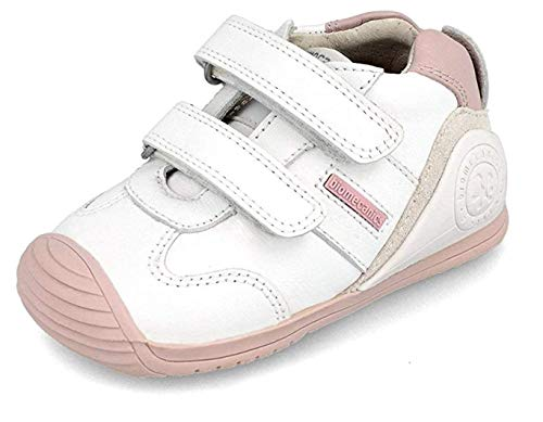 Biomecanics 151157, Zapatillas Niñas, Blanco Y Rosa (Super Soft), 19 EU