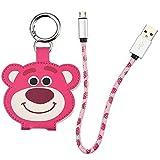 ディズニー(Disney) スマートフォン用USBケーブル microUSB キーホルダー付き ロッツォ