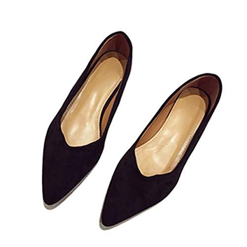 Whale Kri Flache Schuhe für Damen, Spitze Zehenschuhe, Klassische Büroarbeitsschuhe, 3 cm