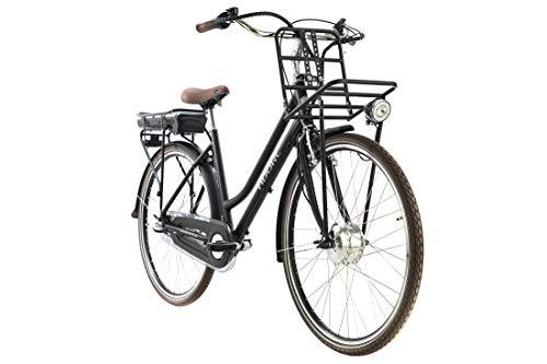 Adore Alu E-City-Bike Damen 28'' Cantaloupe schwarz Frontmotor 36 V/10,4 Ah 3 Gänge Designed by