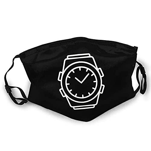 Reloj de pulsera cara M-A-S-K reutilizable lavable bufanda anti polvo bandanas para mujeres y hombres con 2 filtros